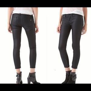 RAG & BONE black coated legging zipper jeans